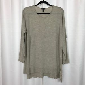 Eileen Fisher Merino Wool Brown Sweater Sz.XL